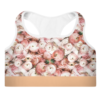Floral Supportive Sports Bra