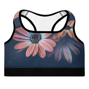 Unique Floral printed Padded Sports Bra