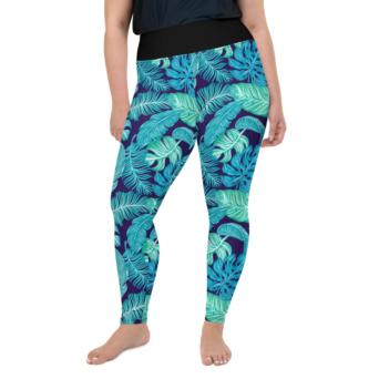 Blue Curvy Leggings