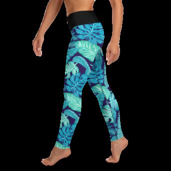 Exotic Blue Yoga Leggings