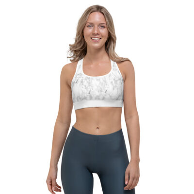 white marble sports top