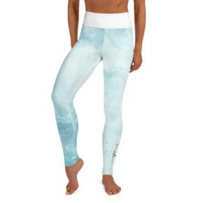 Blue Summer Yoga Leggings