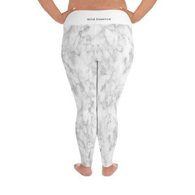 the wild essence white plus size leggings