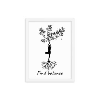 yoga tree pose wall decor