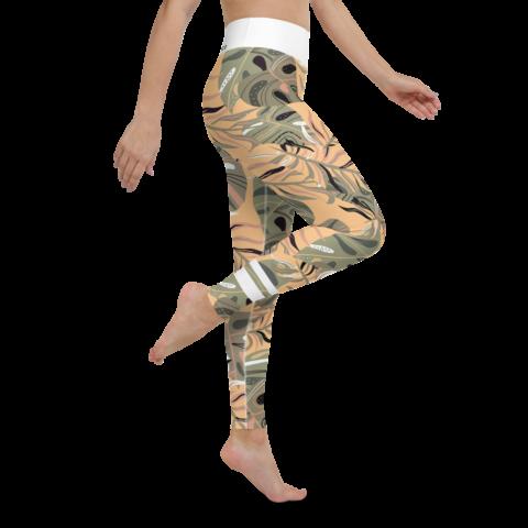 Colorful Leaf Yoga Leggings
