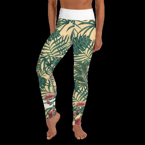 Leaf Pattern Yoga Leggings