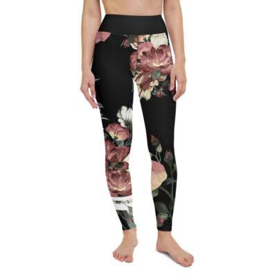 vintage floral leggings