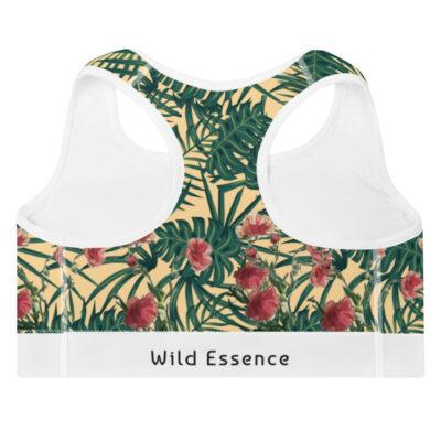 Leaf Pattern Yoga Bra