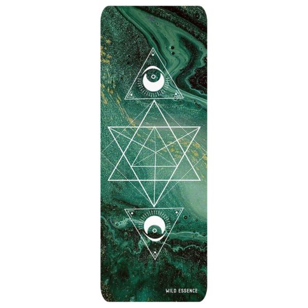 Green Marble Sacred Yoga Mat